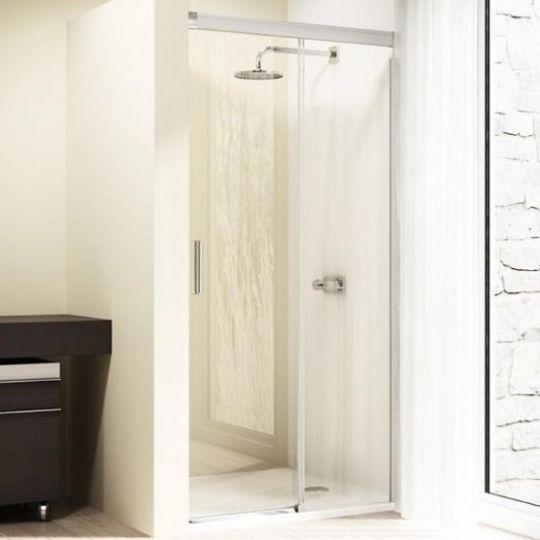 Huppe Design elegance Односекционная раздвижная дверь с неподвижным сегментом крепление справа 8E02