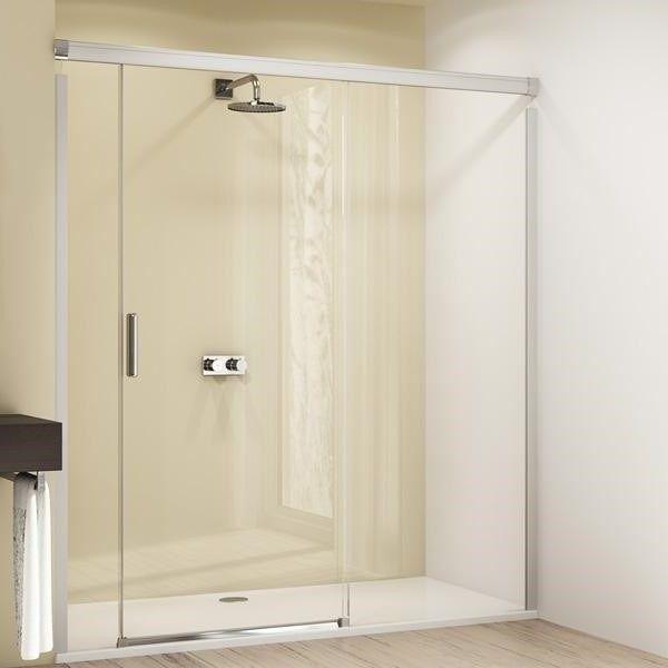 Huppe Design elegance Раздвижная душевая дверь с неподвижным сегментом и доп. элементом крепление справа 8E04 ФОТО