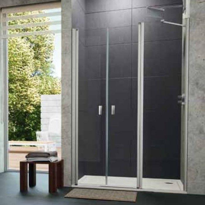 Huppe Design pure душевая дверь, открывающаяся вовнутрь и наружу, с дополнительным элементом для ниши 8P75 ФОТО
