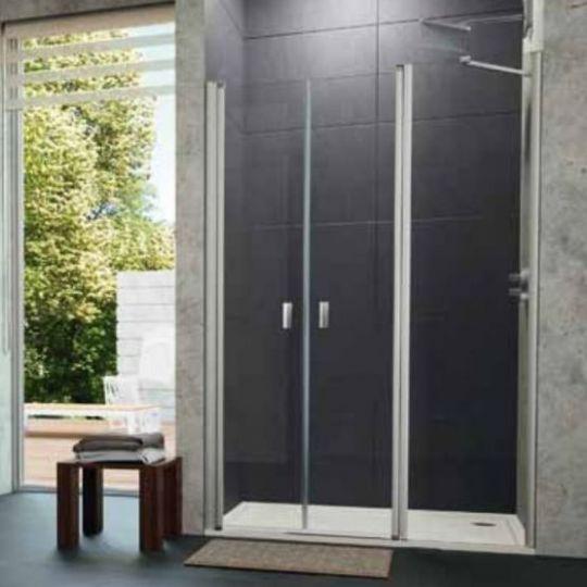 Huppe Design pure Дверь, открывающаяся вовнутрь и наружу, с дополнительным элементом для ниши 8P75