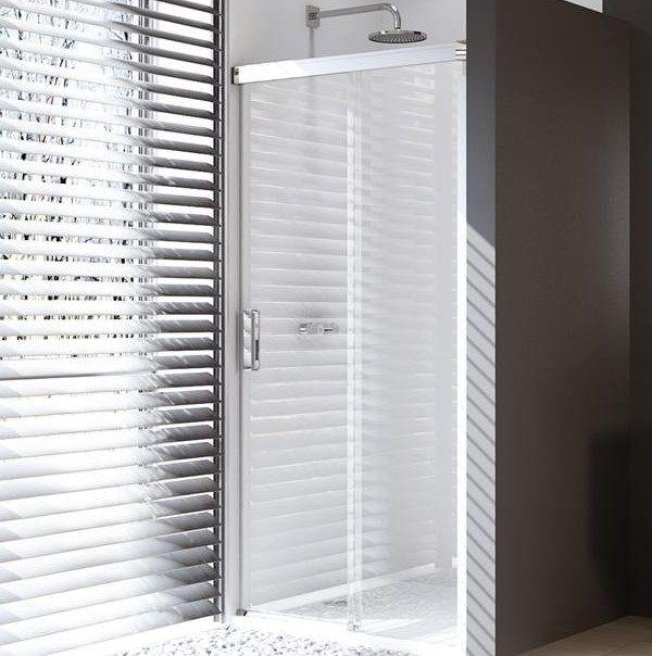 Huppe Design pure Односекционная раздвижная душевая дверь с неподвижным сегментом крепление справа 8P02 ФОТО