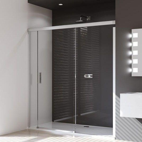 Huppe Design pure Раздвижная душевая дверь с неподвижным сегментом и доп. элементом крепление справа 8P04 ФОТО