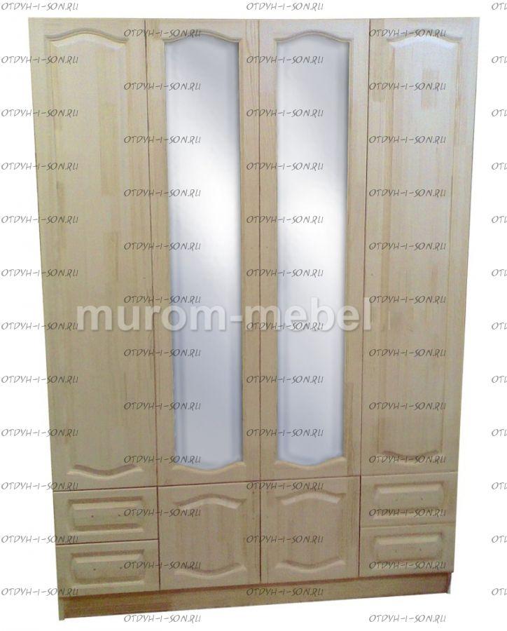 Шкаф 4-дверный Лира (180х55х240)