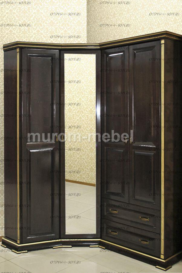 Шкаф угловой Грета (135/180х58х237)