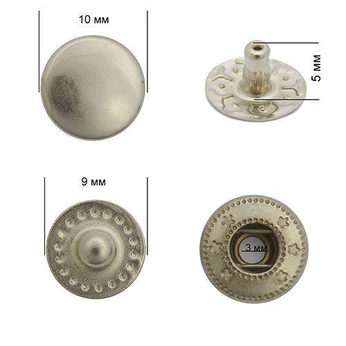 Кнопка VT-2 цвет.никель 10мм сталь NewStar
