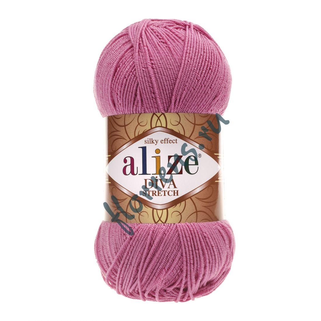 Пряжа Alize Diva Stretch / 178 ярко-розовый