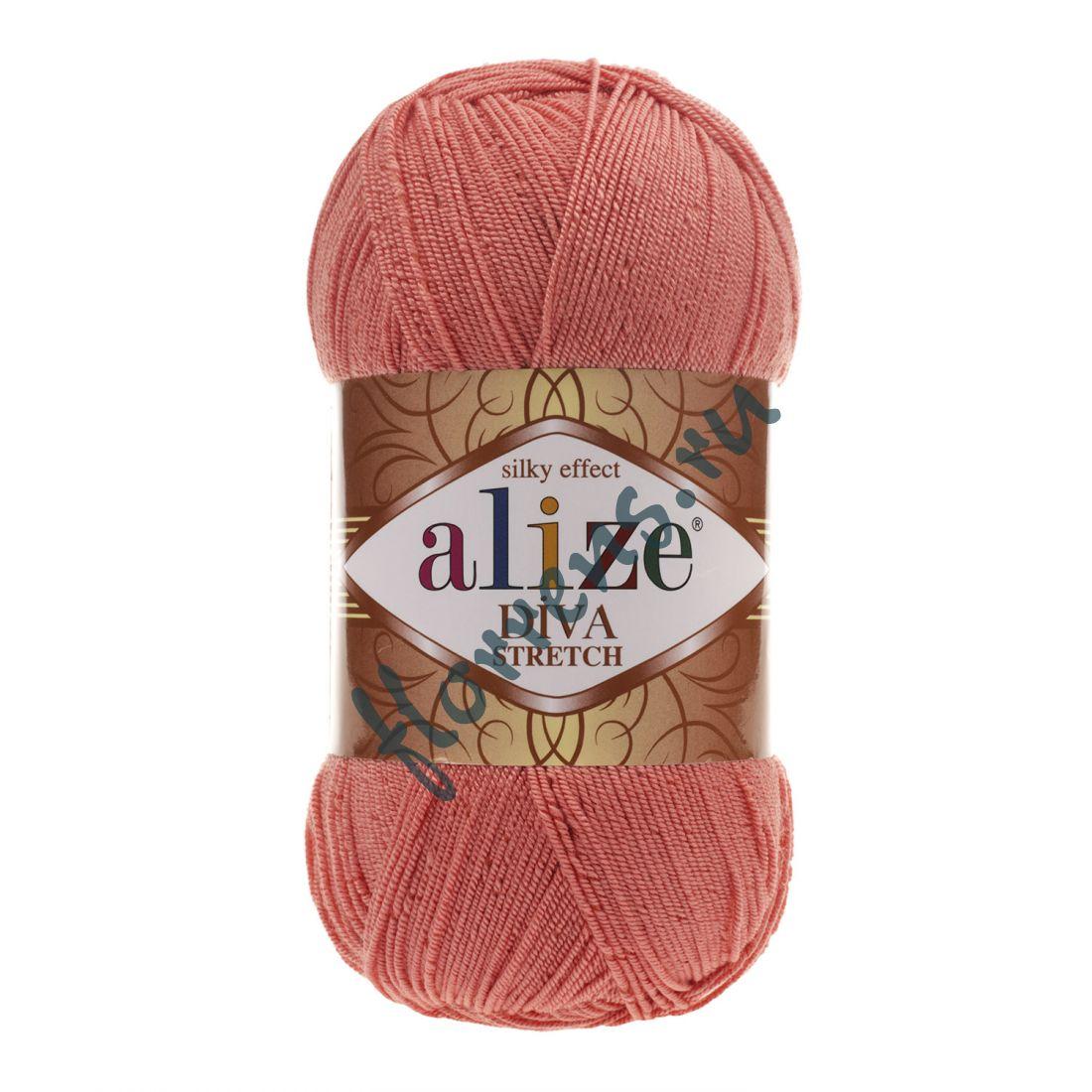 Пряжа Alize Diva Stretch / 619 коралловый