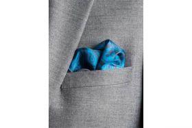 Английский нагрудный платок Тил Пейсли   TEAL PAISLEY SWIRL  SILK POCKET SQUARE