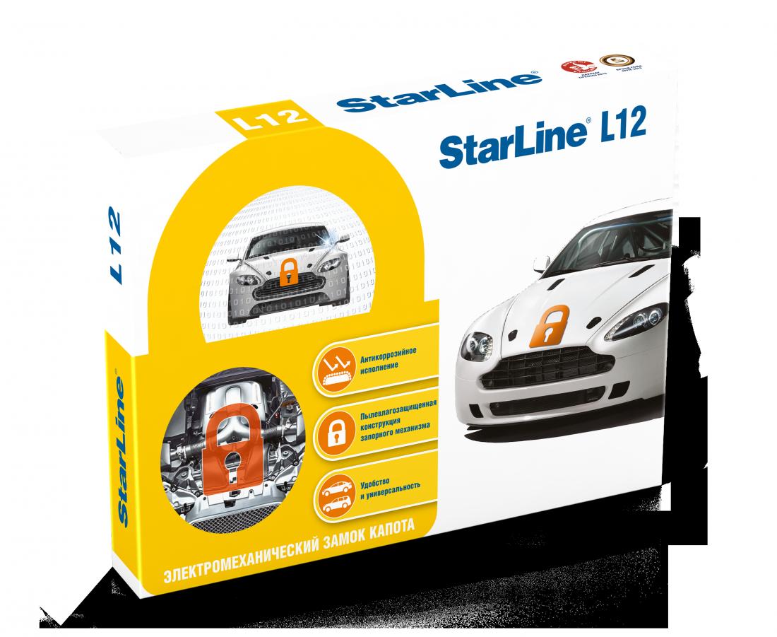 StarLine L12   электромеханический замок капота.