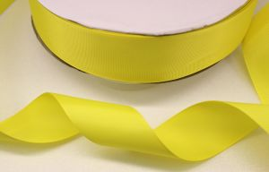 `Лента репсовая однотонная 15 мм, цвет: желтый
