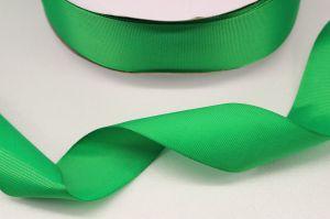 `Лента репсовая однотонная 15 мм, цвет: зеленый