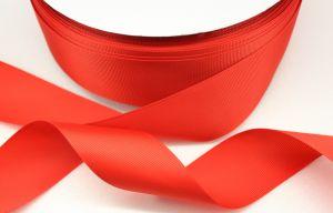 `Лента репсовая однотонная 15 мм, цвет: красный