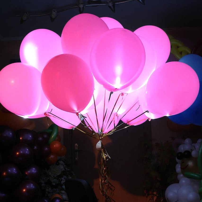 Светящиеся шары розовые