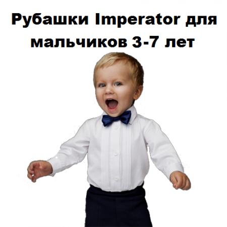 Рубашки ДОШКОЛЬНЫЕ оптом (3-7 лет.)