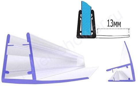 Серия-F-13 Уплотнитель для душевой кабины, толщина стекла (4,5,6мм) Длина 2 метра