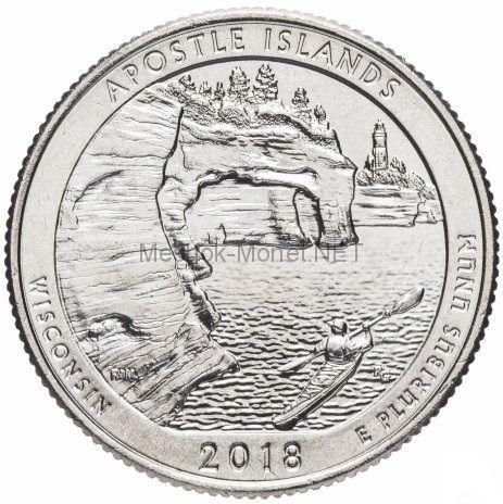 25 центов США 2018 Острова Апосл, 42-й парк
