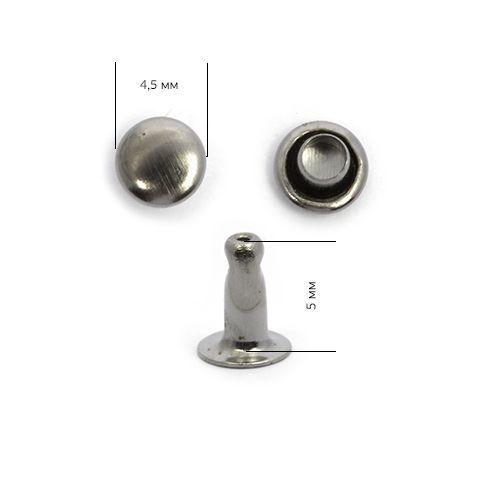 Хольнитены №00 4*4 мм, цвет: т.никель NewStar