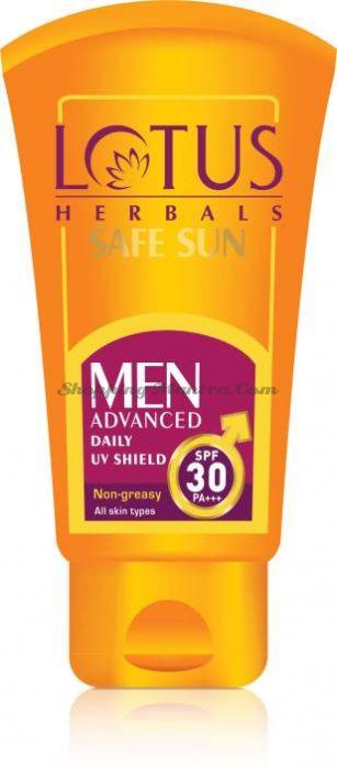 Солнцезащитный увлажняющий крем для мужчин SPF30 Лотус Хербалс | Lotus Men Advanced Shield