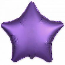 """Звезда, фиолетовый, сатин, 18""""/ 46 см, Agura"""