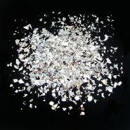 Конфетти,дроблёные серебряные, 250 гр