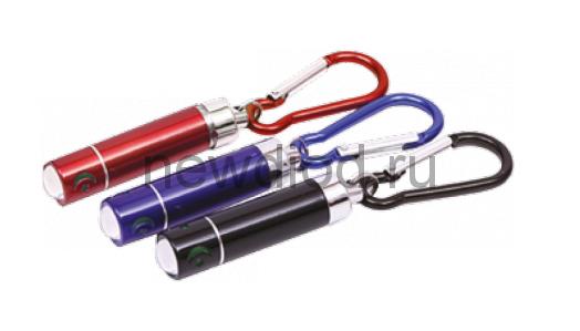 Брелок светодиодный KL-11 алюминиевый с батарейкой СИНИЙ INHOME