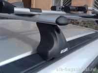 Багажник на крышу Volvo XC60 с интегрированными рейлингами, Атлант, аэродинамические дуги