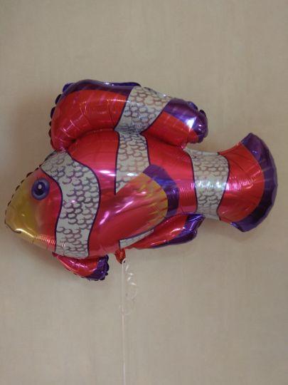 Золотая рыбка фольгированный шар с гелием