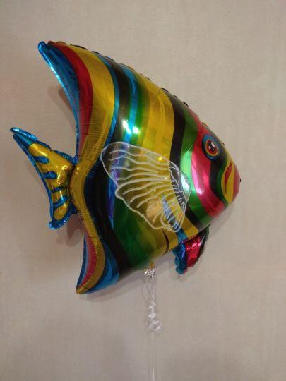 Рыбка морская фольгированный шар с гелием