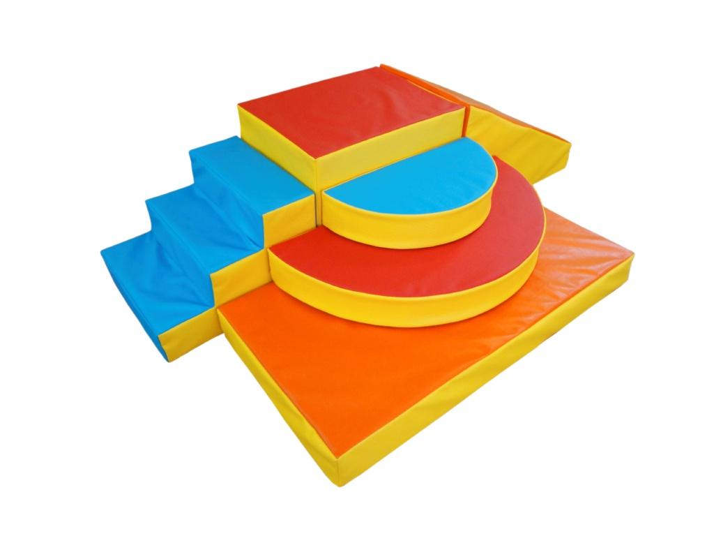Спортивно-игровой комплекс из мягких модулей, 6 элементов