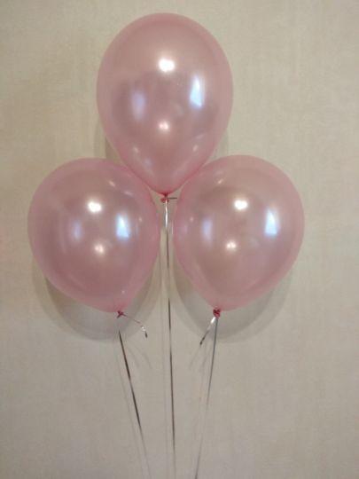 Розовый металлик шар с гелием