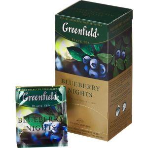Чай Greenfield Blueberry nights черный с черникой 25 пак