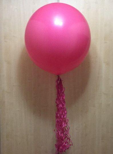 Метровый шар с тассел-хвостом латексный с гелием