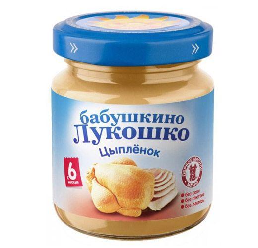 Бабушкино лукошко Пюре Цыпленок с 6 мес., 100 г