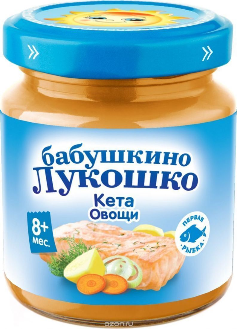 Бабушкино лукошко Пюре рагу из кеты с овощами с 8 мес., 100 г