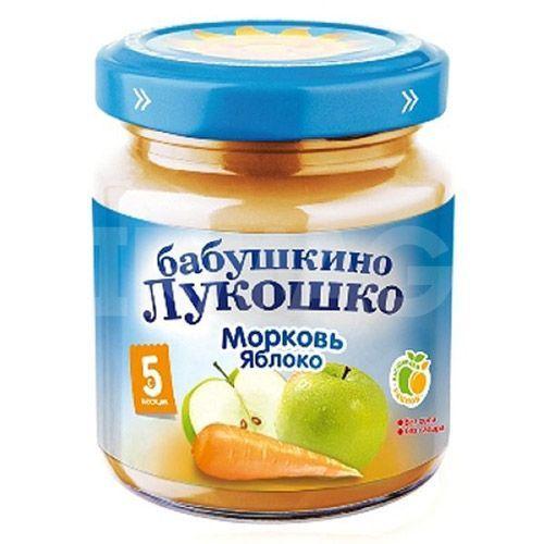 Бабушкино лукошко Пюре Морковь и яблоки с 5 мес., 100 г
