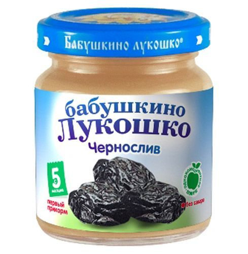Бабушкино лукошко Пюре Чернослив с 5 мес., 100 г