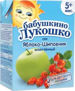 Бабушкино лукошко Сок Яблоко-шиповник осветленный без сахара с 5 мес. 200 мл