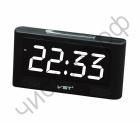 Часы  эл. сетев. VST732-6 бел.цифры