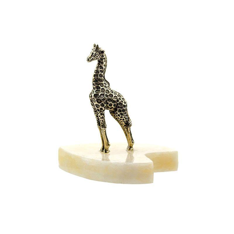 """Статуэтка """"Жираф маленький"""" на натуральном камне"""