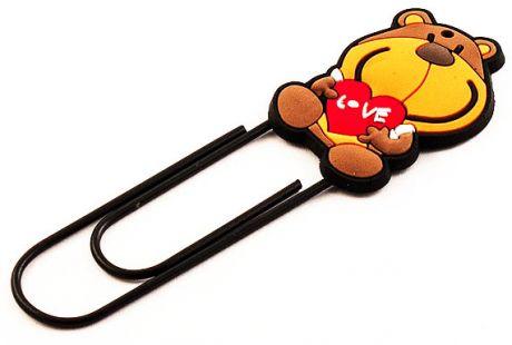 Закладка - скрепка Собака с сердцем  (12 см)