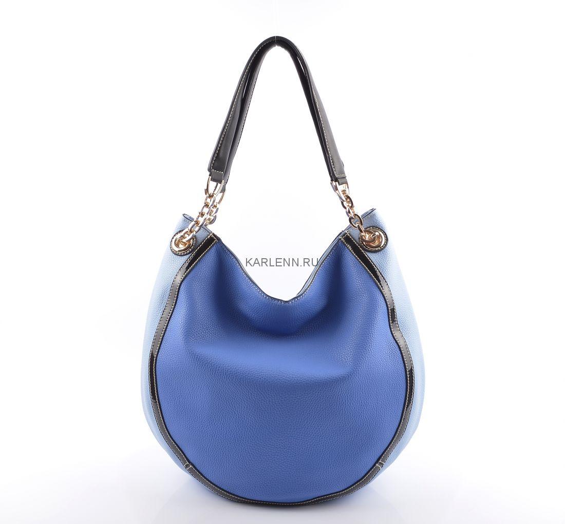 Сумка-мешок Velina Fabbiano (голубая)