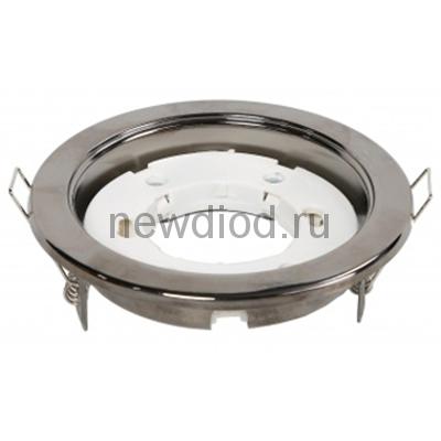 Точечный Светильник OREOL Korona 301-BK 106/85mm под лампу GX53 H4 Хром Черный