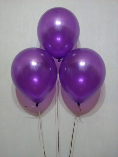 Фиолетовый металлик шар с гелием