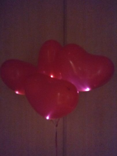 Светящееся сердце латексные шары с гелием