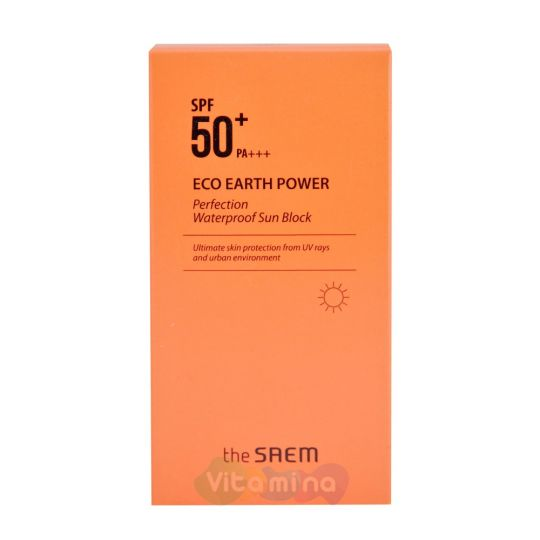 The SAEM Eco Earth Power Perfection Waterproof Sun Block Водостойкий солнцезащитный крем SPF50+