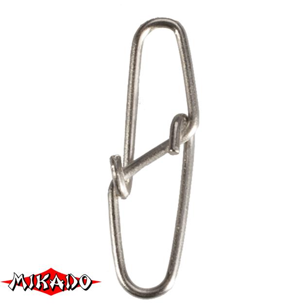 Застежка Mikado Diamond № 1.  тест 15 кг. (12 шт.) фас.=10 уп., упак