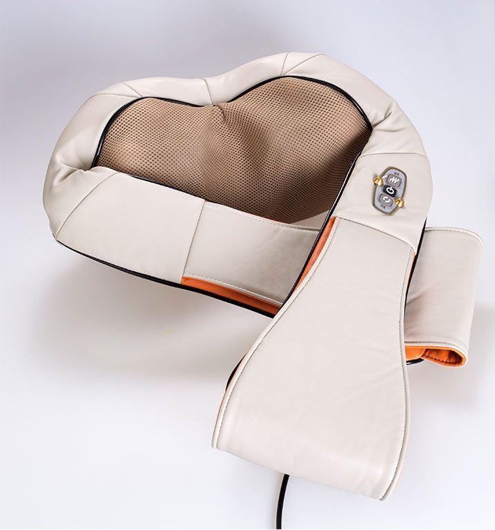 Массажер для шеи, плеч и спины с ИК-прогревом Massager Of Neck Kneading (рабочая поверхность 38х14х12 см)