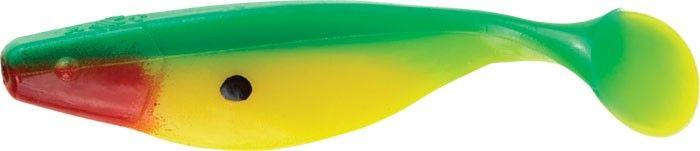 Виброхвост MISTER TWISTER Shad 5 см уп. 10 шт. G2R (зеленый / салатовое брюшко / огненная голова) фирменная упаковка