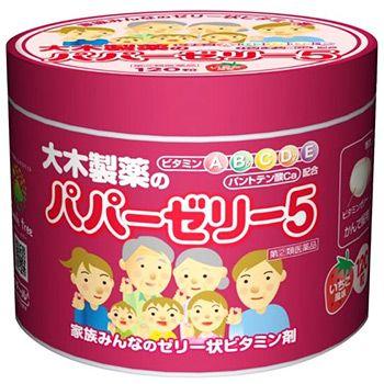 OHKI Papa Jelly 5 (Papazeri 5) Детские витамины желе с клубничным вкусом 120 шт.