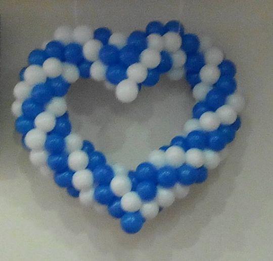 Сердце из шаров